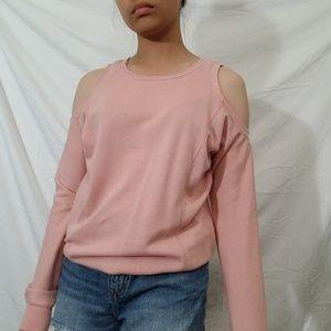 Pink Cold Shoulder Long Sleeve 💗💘